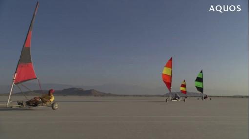 парусник в пустыне в hd видео