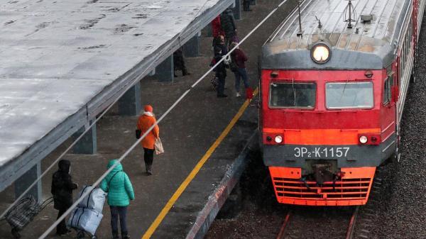 ржд электричка поезд станция пассажиры